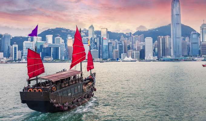 Cruise fra Hong Kong til Singapore