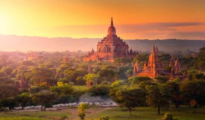 Elvecruise og rundreise i Myanmar
