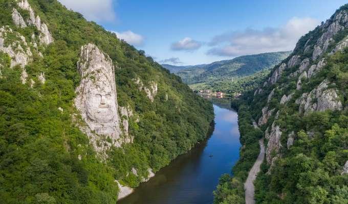 Syv land og fem hovedsteder langs Donau
