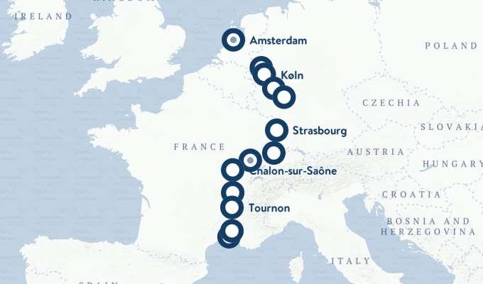 Elvecruise på Rhinen og Rhône