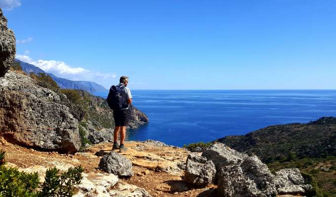 Kustvandring på Kreta