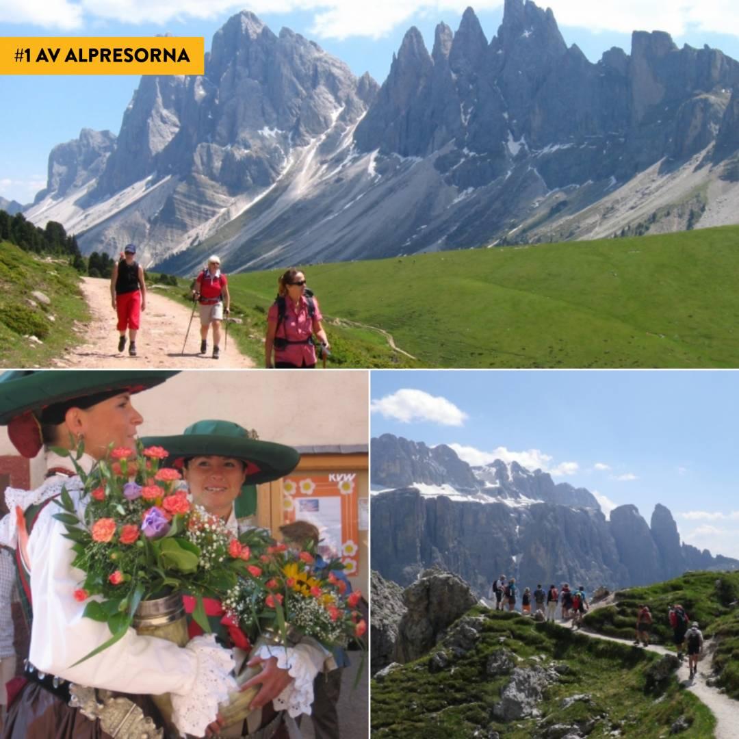 Vandring i Val Gardena - På 2 sätt