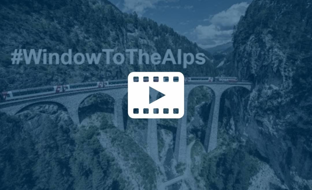 Video av togreisen med Glacier Express